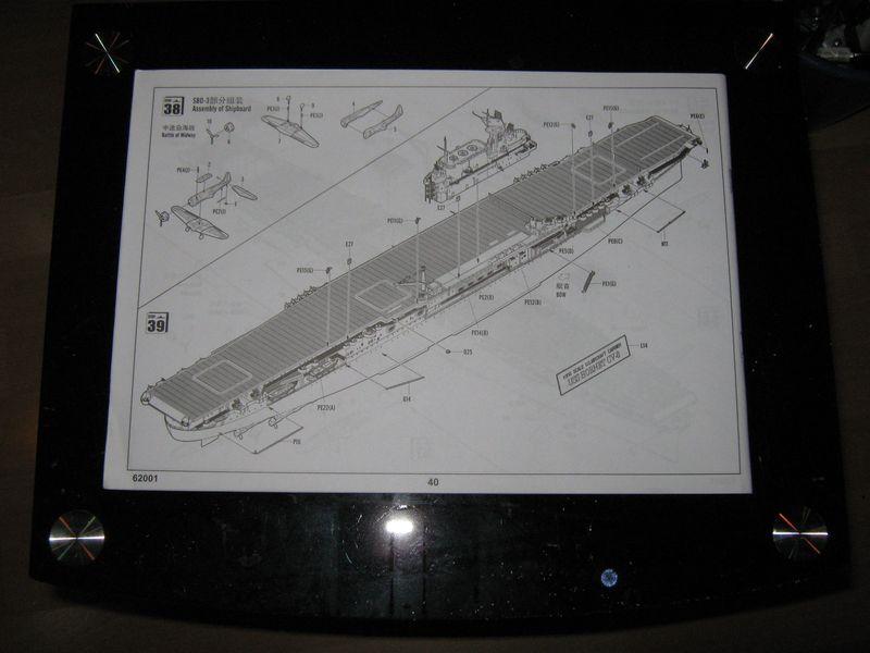 Merit Bausatz Flugzeugträger CV 8 Hornet 1/200 Hornet%20004