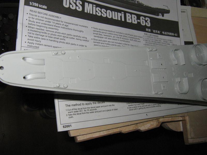 Bau der Missouri von Trumpeter in 1/200 - Seite 2 Missouri%20062